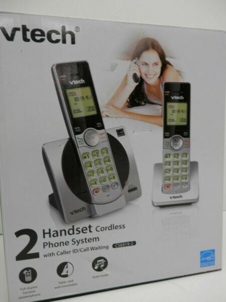 VTECH *CS6919 2* 2 HANDSET CORDLESS PHONE SYSTEM WITH CALLER ID CALL WAITING $24.99