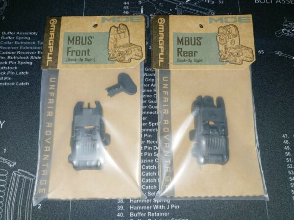 Magpul MBUS Gen2 Front amp; Rear Black Back Up Sights Made in USA SAME DAY SHIP $94.95