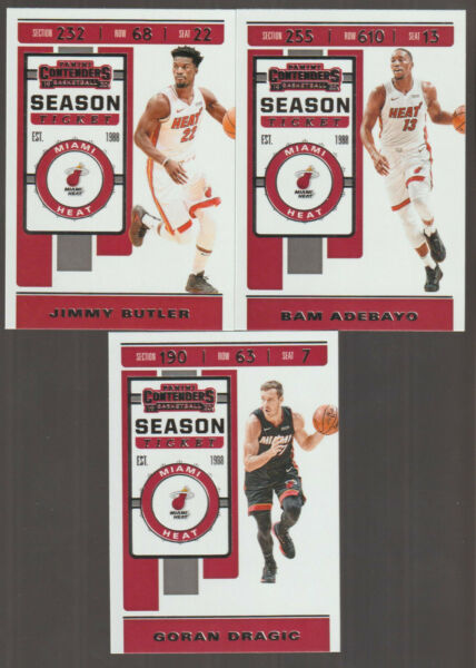 2019 2020 MIAMI HEAT 20 Card Lot w CONTENDERS TEAM SET 13 2019 20 Players $26.99