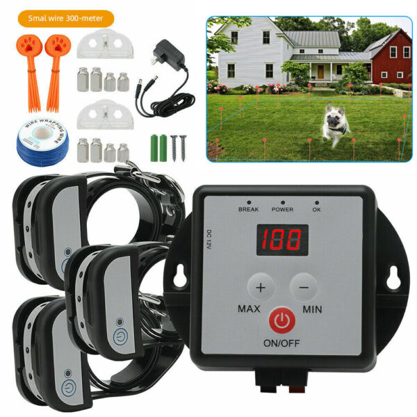 Wireless Electric Dog Fence 3 Dogs Pet Containment System Shock Collars 1 2 Dogs $62.20