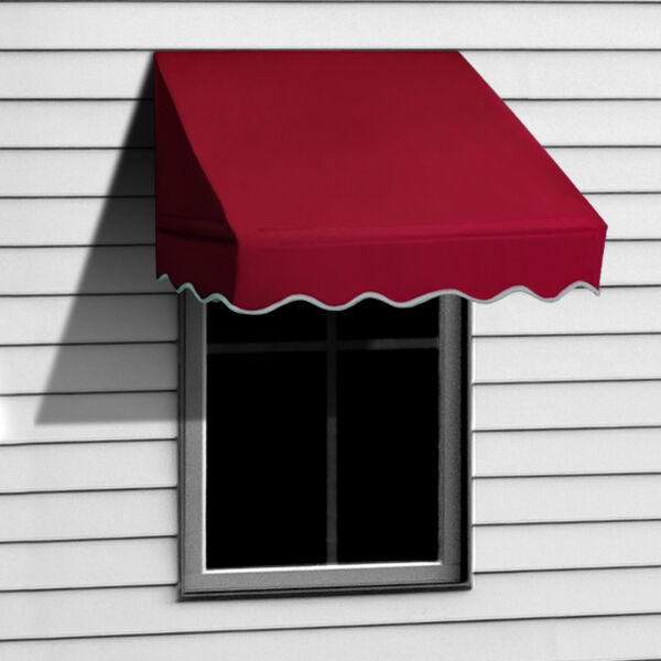 ALEKO Window Awning Door Canopy Decorator 4x2ft Sun Rain Shade Shelter Burgundy