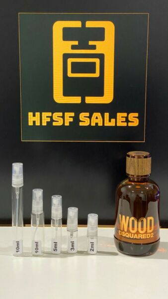 DSQUARED2 Wood for Him EDT Samples 2 3 5 10ml Glass Sprays $10.25