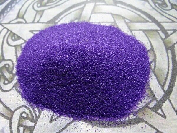 Incense Burner Sand * Purple * 4 oz Wicca Pagan Metaphysical Altar Ritual Supply