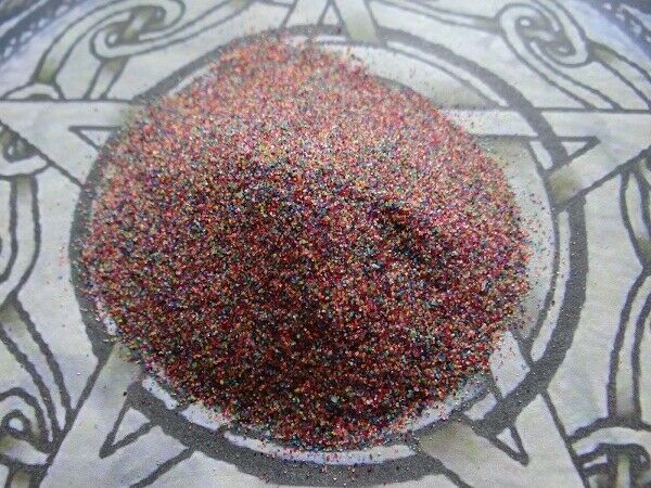 Incense Burner Sand * Rainbow * 4 oz Wicca Pagan Metaphysical Altar Supply