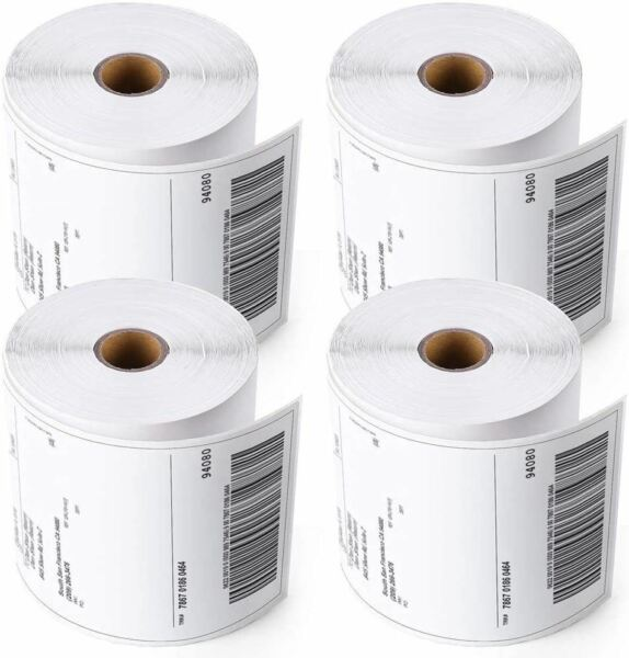 4 Rolls 4x6 Direct Thermal Shipping Labels 250 per roll 1000 labels