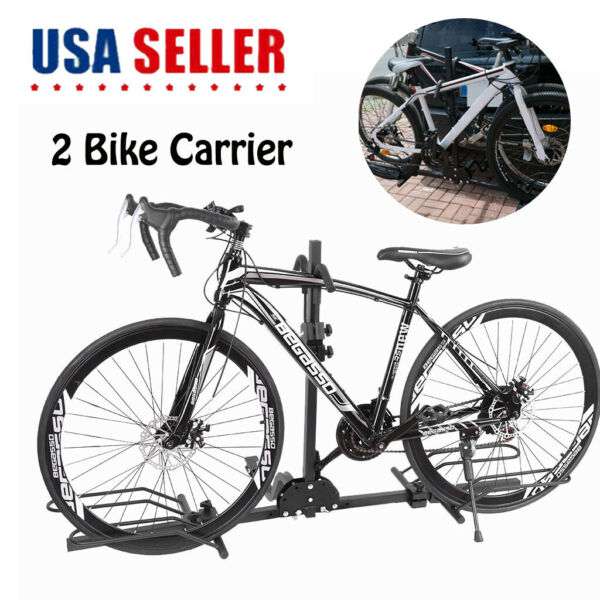 2 Bike Carrier Platform Hitch Rack Bicycle Rider Mount Sport Fold Receiver 2quot; $72.99