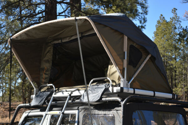 Voyager Pop Up Roof Top Camping Tent w Ladder fits Wrangler Minivan SUV Truck $927.89