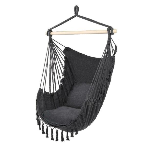 Hammock Hanging Rope Chair Swing Seat Patio BBQ Camping w Tassel $21.98