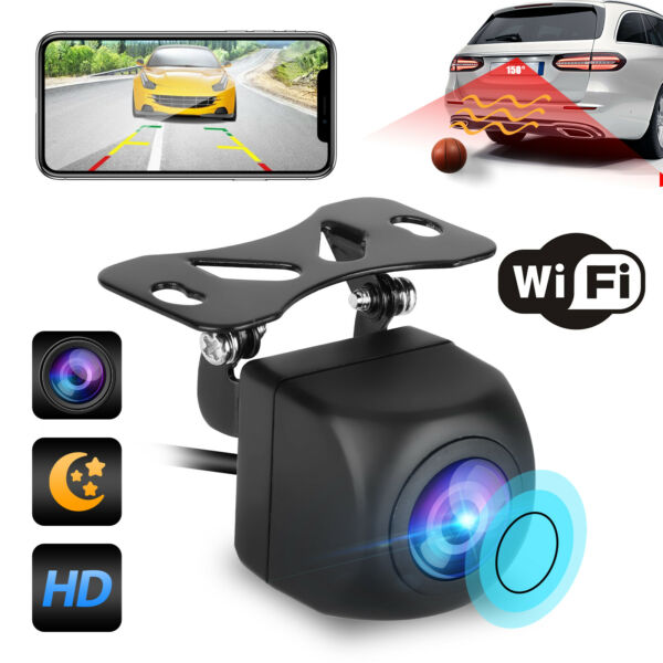 170° WiFi Wireless Car RearView Cam Backup Reverse Camera For Android ios iPhone