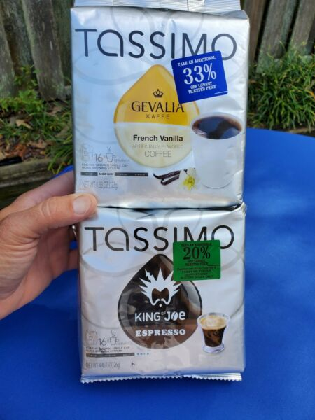 King of Joe amp; Gevaila French Vanilla Coffee 32 T Discs for Tassimo Brewing