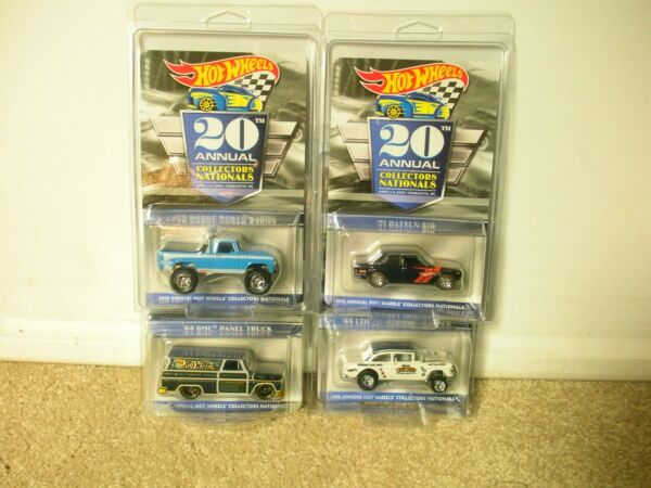 2020 Hot Wheels 20th Nationals Convention 4 car Set Chevy Dodge GMC Datsun $609.99