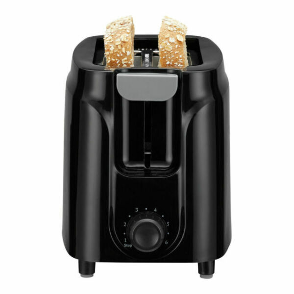 Mainstays 2 Slice Black Toaster Brand New Fast Shipping