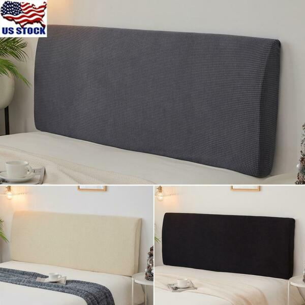 Jacquard Bedding Headboard Cover Stretch Protector Dustproof Bed Head Slipcover $17.89