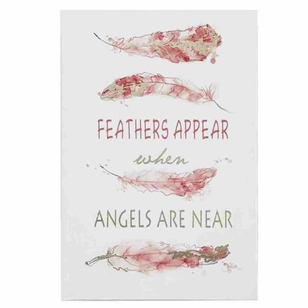 French Country Canvas Print FEATHER APPEAR ANGELS NEAR 40x60cm