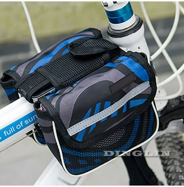 Bike Accessories Frame Cycling Bag Bicycle Pouch Tube Front Phone Double Pannier $4.09