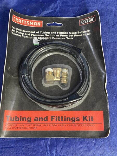 NEW Genuine Craftsman Parts Jet Pump Pressure Tank Tubing amp; Fittings Kit 1 4quot;