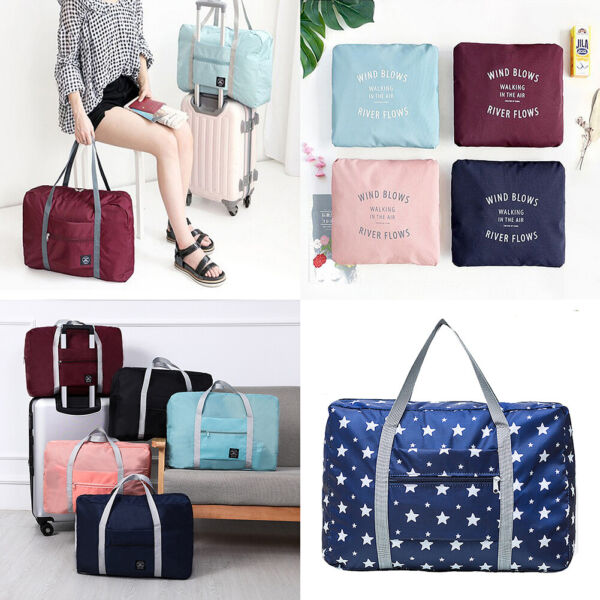 US Foldable Travel Luggage Carry on Shoulder Duffle Bag Lightweight Sport Tote