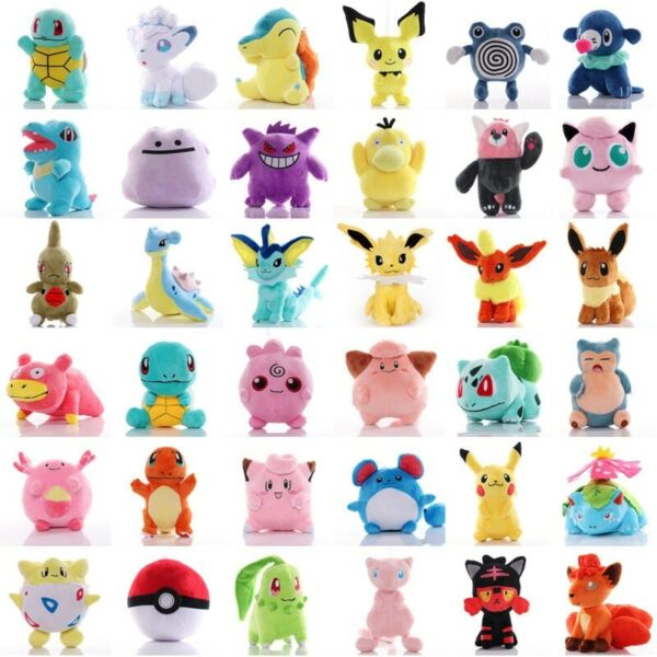 41 Style Pokemoned plush doll Pikachued stuffed toy Charmander Squirtle