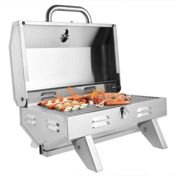 Outdoor Tabletop Stainless Steel Propane Gas Grill Portable Burner BBQ Party