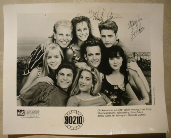 Beverly Hills 90210 CAST X8 ORIGINAL HAND SIGNED AUTOGRAPHED PHOTO PHOTOGRAPH