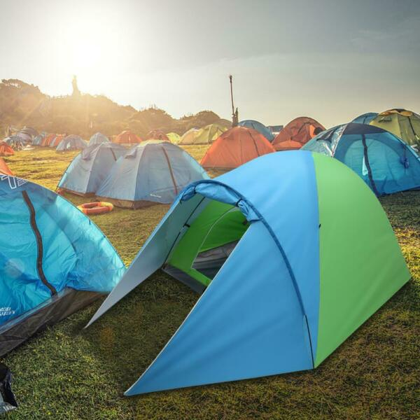 3 4 Person Automatic Pop Up Outdoor Tent Camping Backpacking Tents Waterproof $34.98