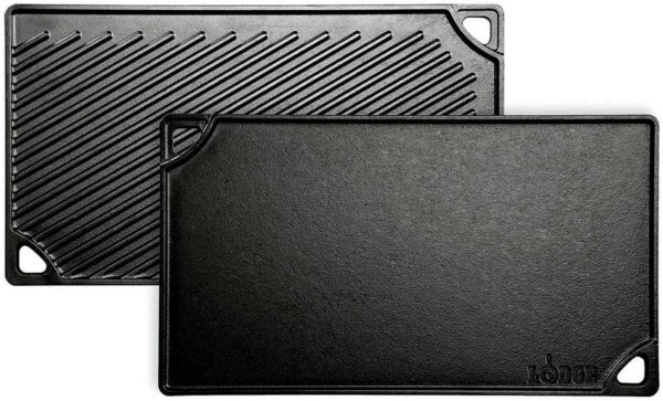 Lodge Pre Seasoned Cast Iron Reversible Griddle Black