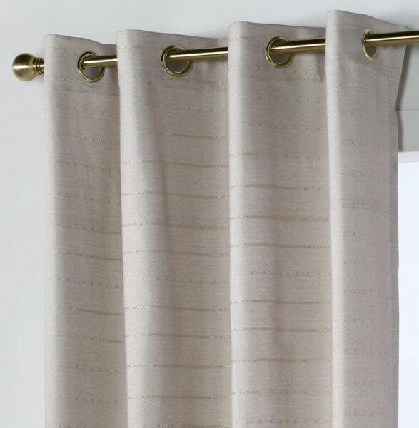 Florence Faux Linen Curtain Panel with Grommets Linen 84quot; length Commonwealth