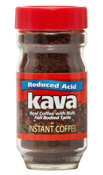Kava Acid Reduced Instant Coffee in Glass Jar 4 Ounce