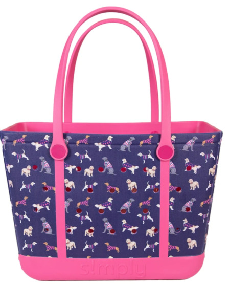 NEW Simply Southern Large Beach Tote Solid Dog like Bogg bag $84.99