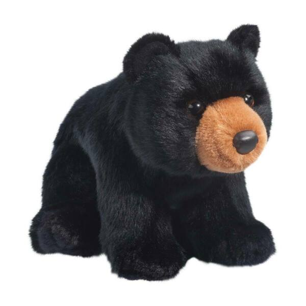 ALMOND the Plush BLACK BEAR Stuffed Animal by Douglas Cuddle Toys #4527