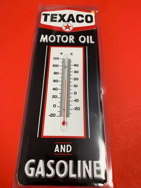 TEXACO Thermometer Retro Gasoline Oil Vintage Style Wall Garage Sign Gas NEW $24.99