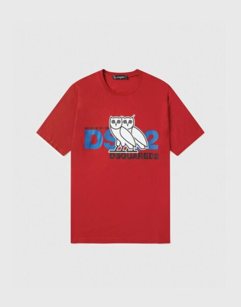 OVO X DSQUARED2 T Shirt Red Brand New Size XL $530.00