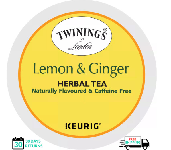 Twinings Lemon amp; Ginger Keurig Tea K cups YOU PICK THE SIZE