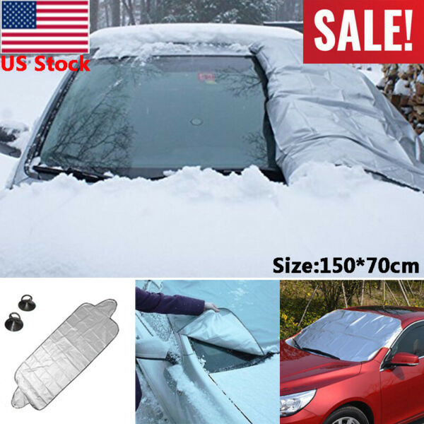 Windshield Cover Snow Ice for Car Frost Guard Winter Protector Auto Osculum Type $6.39