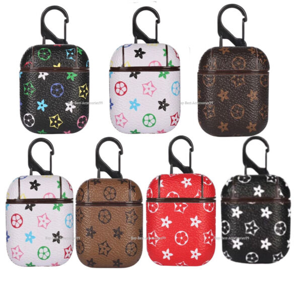 Luxury AirPods Leather Case Protective Skin Cover For Apple AirPod 21 Earphone $9.77