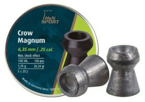 Hamp;N CROW MAGNUM .25 CALIBER PELLETS 26.23 grains 150 Count VERY ACCURATE $21.54