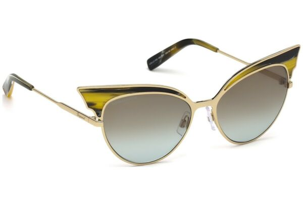 DSQUARED2 LOLLO DQ 0166 64F Gold Cat Eye Sunglasses Frame 55 16 140 DQ 166 Italy $179.50