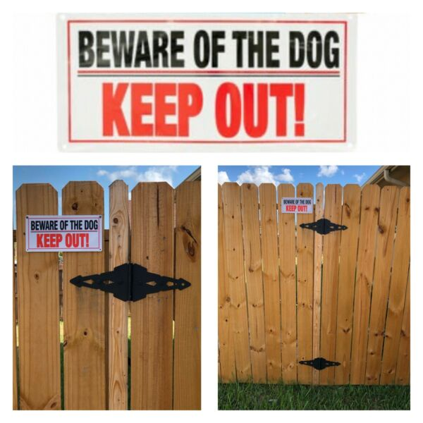"""Beware of Dog Warning Sign Keep Out Thick Plastic 5"""" X 10"""" Fast Shipping $7.99"""