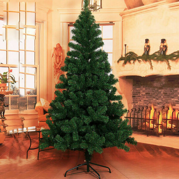 4 5 6 ft Artificial Christmas TreeMetal Base with 10M 100 LED Warm LightRemote