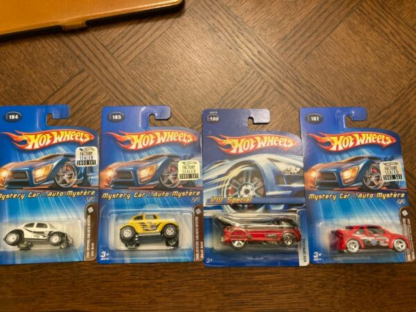 Hot Wheels VW Mystery 4 car Mail In Set 2005 Real Riders w Kar Keepers MINT $49.99