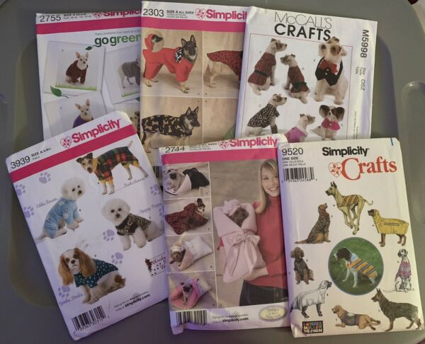 Lot Of 9 New Assorted Dog McCall's Simplicity Patterns