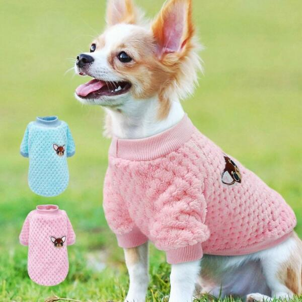 Cute Dog Clothes For Small Dogs Pug Clothes Coat Winter Dog Clothing Pet Puppy $5.49