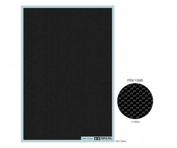 Tamiya 12680 Carbon Pattern Decal Plain Weave Extra Fine For 1 12 1 24 Model Car $6.40