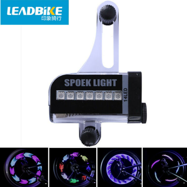 Leadbike Bicycle Accessories 14 LED for Changes 30 Spoke Tire Signal Light Wheel $10.43