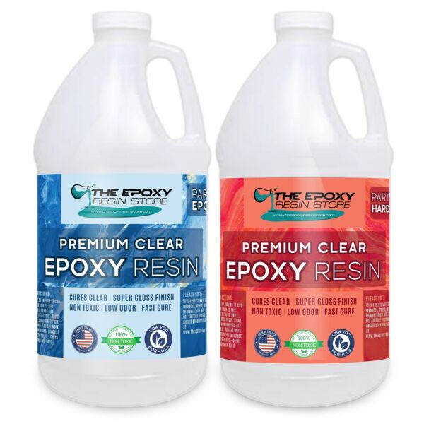 Crystal Clear Epoxy for bar tops tables crafts jewelry castings 1 Gallon Kit $50.08
