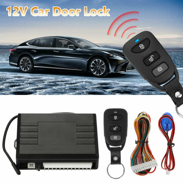 Car Vehicle Door Lock Keyless Entry System Remote Central Kit w Control Box $16.48