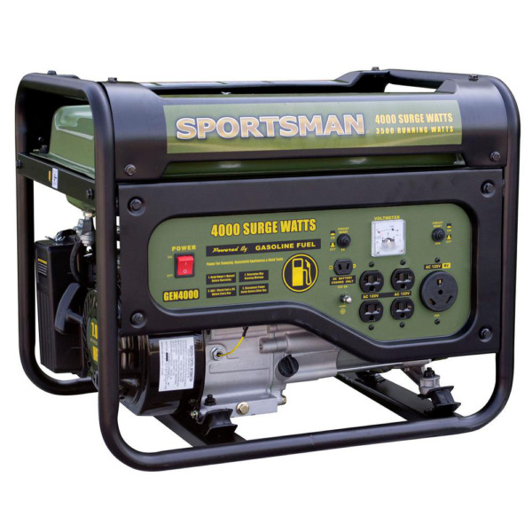 4000 3500 Watt Gasoline Powered Portable Generator with RV Outlet