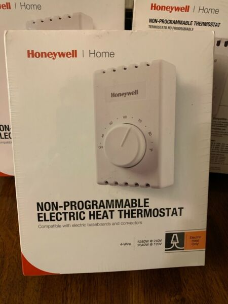 Honeywell Manual Electric Baseboard Heat Thermostat Non Programmable Thermostat $22.49