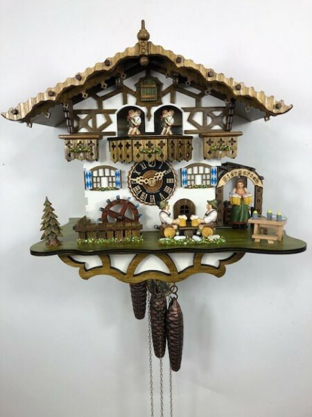 Hones 1 Day Musical Black Forest Cuckoo Clock NEW # 664T SEE video
