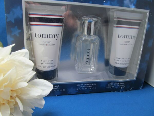 Tommy Hilfiger TOMMY Men EDT Cologne Spray 1.0 oz ASB amp; BW 2.5 oz GIFT SET 3 NIB $27.00